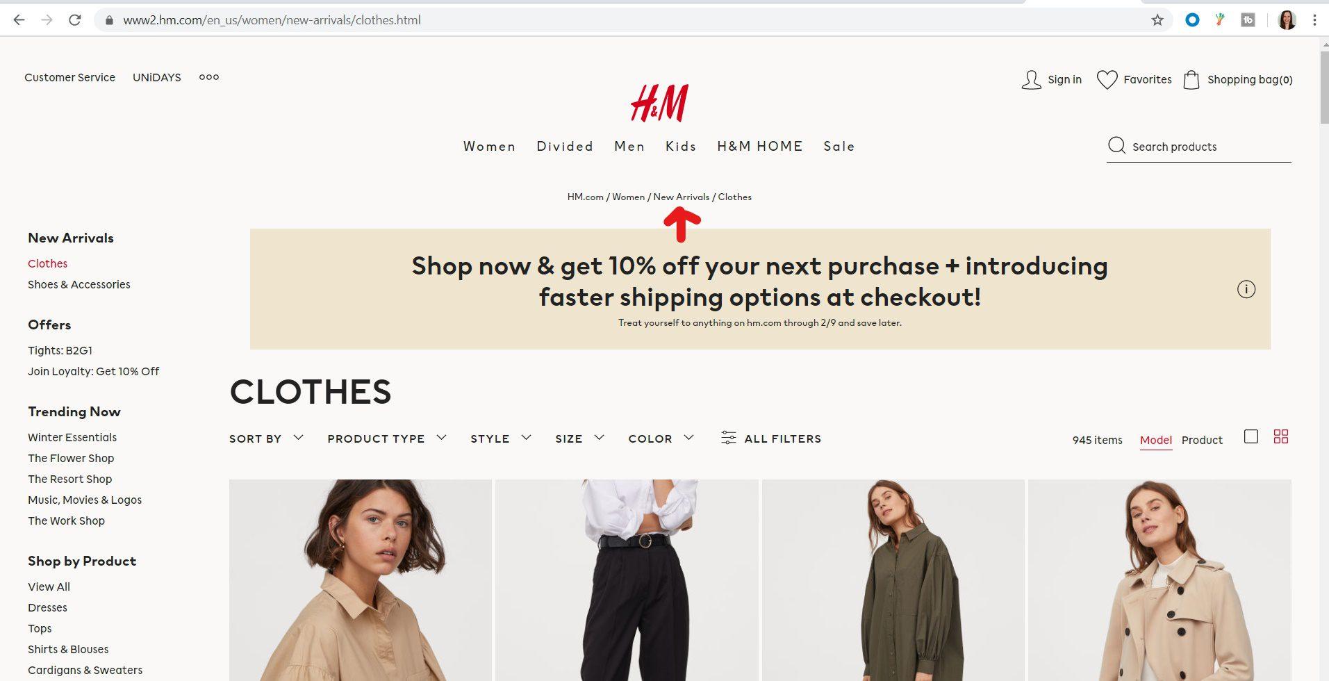 eCommerce site conversion optimization